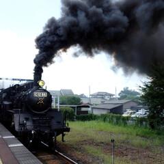 真岡鐵道/SL/蒸気機関車/栃木/旅 真岡鐵道のSLに乗ってきました。 汽笛と…
