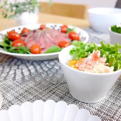 おうちごはん/おうちごはんクラブ/LIMIAごはんクラブ/サラダ/IKEA/食器/... いつかの夕飯より。 サラダを盛っているの…