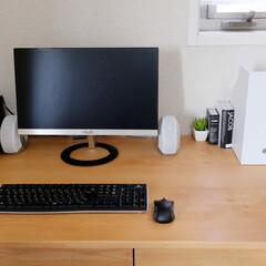 パソコン/PCスペース/パソコンデスク/ワークスペース/おうち自慢 わが家のPCスペース。  念願だったプリ…