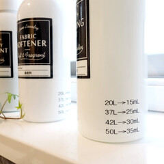 洗剤ボトル/モノトーン/白黒/ラベリング/生活雑貨/雑貨/... 洗濯の洗剤ボトル。  少しでも洗濯が楽し…(1枚目)