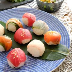 ひな祭り/ARABIA/24h/アベック/手まり寿司/北欧食器/... 先日のひな祭り。 今年は、手まり寿司を作…