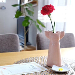 母の日/カーネーション/リサラーソン/フラワーベース/北欧雑貨/一輪挿し/... 母の日だった日曜日、娘がお花と感謝状?と…