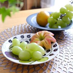 マスカット/ロザリオビアンコ/パープルパラティッシ/パラティッシ/Enaプレート/フルーツ/... 少し前ですが、娘が「食べたい」と言うので…
