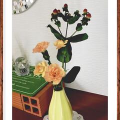 花/玄関 玄関の花を新しく。 ちょっと飾ってみたく…