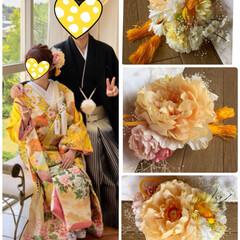 晴れの日/娘の結婚式/色打ち掛け/ウエディングドレス/ブーケ/ブートニア/... 先月末に 三女の結婚式💒でした😊✨ その…(6枚目)