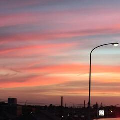 夕焼け/お出かけ 夕焼けが 綺麗だったので  私も 🤳撮っ…
