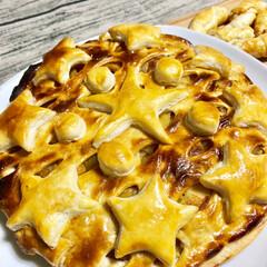 サツマイモサラダ/蓮根/鶏肉/りんごと サツマイモの パイ/自家製サツマイモ/手作り/... ⑴⑵自家製のサツマイモを 使って いくつ…(6枚目)