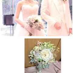 晴れの日/娘の結婚式/色打ち掛け/ウエディングドレス/ブーケ/ブートニア/... 先月末に 三女の結婚式💒でした😊✨ その…(4枚目)