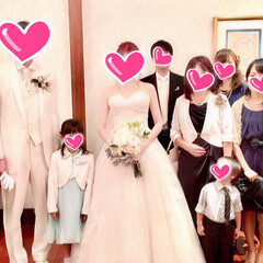 晴れの日/娘の結婚式/色打ち掛け/ウエディングドレス/ブーケ/ブートニア/... 先月末に 三女の結婚式💒でした😊✨ その…(2枚目)