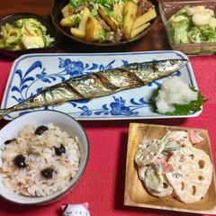 フード/お家ご飯/秋刀魚 今年は サンマが  豊漁だそうですね(^…