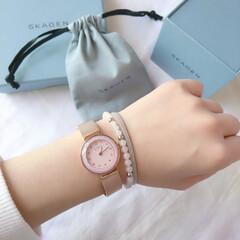 春アクセサリー/ブレスレット/腕時計/わたしのお気に入り 最近のお気に入り腕時計☺️💕  フェイス…
