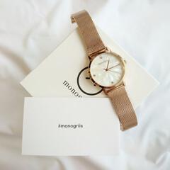monogriis/秋冬アクセサリー/ゴールド/watch/腕時計 最近お気に入りの腕時計😌♥️  キラキラ…