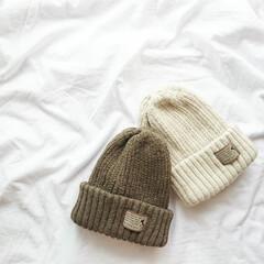プチプラ雑貨/ニット帽/秋冬ファッション/ファッション/ママコーデ お気に入りのニット帽\(◡̈)/  ナチ…