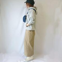 低身長コーデ/キャップ/しまむら/ファッション キャップ×コンバースのカジュアルコーデ☺…