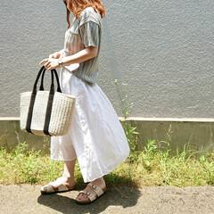 プチプラコーデ/プチプラファッション/夏コーデ/ママファッション/ロングスカート/ユニクロコーデ/... 2、3年着てるお気に入りのユニクロのロン…