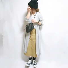 プチプラコーデ/プチプラファッション/春ファッション/春コーデ/ママコーデ/しまむらパトロール/... カジュアルコーデ☺️  ニット帽/14+…