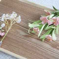 ナチュラルキッチン/ナチュラルキッチンアンド/花/フェイクフラワー/100均/春/... ナチュラルキッチンで春のお花を買いました…