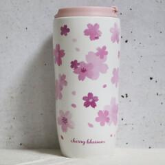 最近買った100均グッズ/ダイソー/100均/キッチン/タンブラー/桜/... 春をたっぷり味わえそうな桜タンブラー。 …