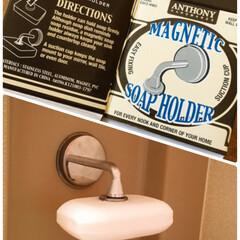 お風呂/ダルトンソープホルダー/住まい 家の主人は、お風呂の時、液体より固形石鹸…