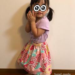 スカート/ハンドメイド 孫ちゃんにスカートを作りました😊 小さい…
