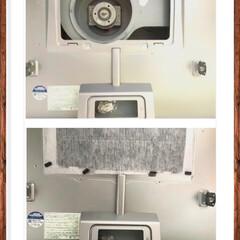 レンジフード/キッチン/掃除 今日は、換気扇のお掃除日です😃 家を建て…