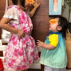 孫ちゃん/ファッション/ハンドメイド 孫ちゃんのツーショットです💕 上の子3歳…