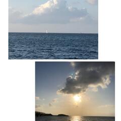 夕陽/海/おでかけ 昨日のフォトです(*^^*) お仕事の帰…