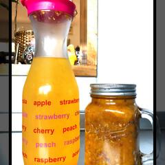 酵素ジュース/100均/セリア/ダイソー/フード 酵素ジュース、できました🍹 出来上がった…
