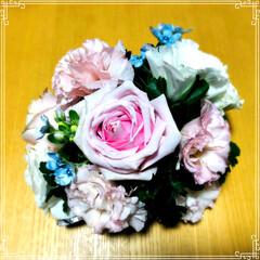 お祝い/結婚式/ブーケ 今日は、友人の娘さんの結婚式に招待されま…