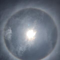 太陽 たった今です 太陽を見上げたら太陽の周り…