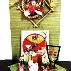 綱引き/お正月/雑貨/100均/ダイソー/インテリア/... 掃除もすんで、お正月の飾り付けをしました…