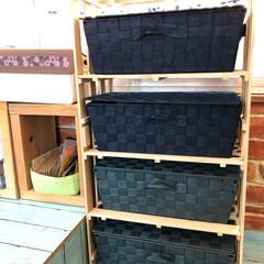アトリエ/DIY/100均/セリア/家具/ハンドメイド アトリエに棚をもらった後、使用頻度の少な…
