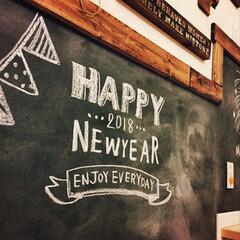 DIY/チョークアート/チョーク/壁紙屋本舗/壁紙/黒板壁紙/... 新年あけました。 今年もよろしくお願い致…