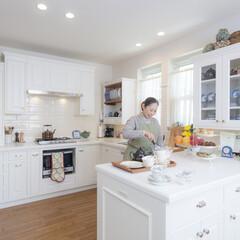 オーダーキッチン/白いキッチン/イングリッシュキッチン 白いキッチンは1番人気です。 イギリスの…