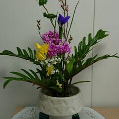 待合室/病院/フラワー/花/お花/インテリア/... 2階 待合室の生け花です  こちらも短い…