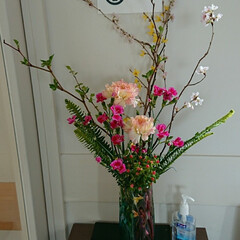 撫子/なでしこ/インテリア/アレンジ/フラワー/花/... 3階 待合室の生け花です  撫子とヒペリ…