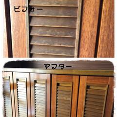 床用WAX/下駄箱/玄関 玄関の下駄箱も、この家と同じ40年弱使用…