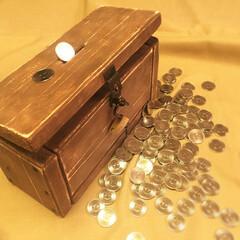 DIY/木工/手作り/工作/貯金箱  宝箱風の貯金箱をDIYでつくってみまし…