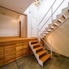 玄関収納/設計事務所/設計/注文住宅/住宅/インテリア/... 玄関&スケルトン階段まわり♪ : ■ha…