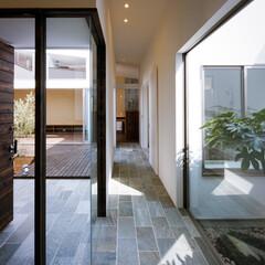 洗面室/浴室/玄関/リビング/設計/インテリア/... 玄関、廊下、水まわり♪ : ■haus-…