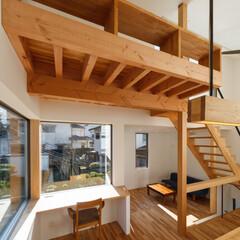 造作家具/家具/インテリア/ロフト/階段/カウンターテーブル/... ダイニングの一角にPCカウンターがあり、…(1枚目)
