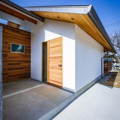注文住宅/住宅/土間/勝手口/玄関/外観デザイン/... コンクリート壁の先に物干しスペースが…(3枚目)