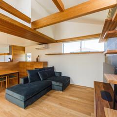 キャットステップ/キャットウォーク/ダイニング/リビング/インテリア/家具/... 見えている木部は全てタモ材で統一。梁にま…
