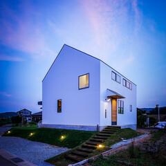 家/家づくり/新築一戸建て/新築/マイホーム計画/マイホーム/... 玄関側の外観と玄関まわり♪ : ■hau…