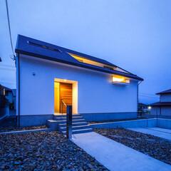 夕景/玄関ドア/玄関/新築一戸建て/新築/注文住宅/... 今日の夕景♪ : □haus-walk□…