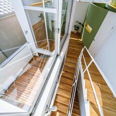 スケルトン階段/設計事務所/設計/マイホーム/ウッドデッキ/バルコニー/... スケルトン階段まわり♪ : ■haus-…