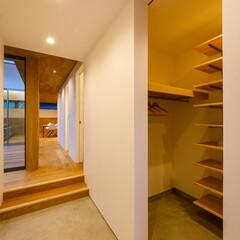 ウッドデッキ/中庭デッキ/中庭住宅/中庭のある家/中庭/廊下/... 玄関、廊下、中庭まわり♪ : ■haus…(3枚目)