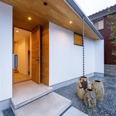 軒先/土間/玄関ドア/外観デザイン/外観/玄関/... 玄関軒先まわり♪ : ■haus-flo…