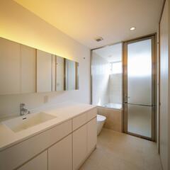 浴室/洗面所/設計事務所/設計/洗面/中庭住宅/... 洗面トイレ浴室まわり♪ : ■haus-…