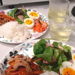 ごはん/ワンプレート/晩御飯/おうちごはん/暮らし 我が家の晩御飯。 楽しようと思って、また…